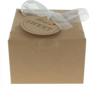 Geschenkbox Love is Sweet 5 Stück (6,5*6,5*4,5 Zm)