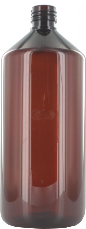 Flasche 1000ml braun PET/ Kunststoff 28mm Öffnung