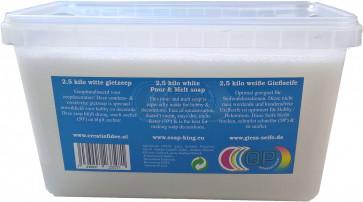 Glyzerin Gießseife Schwitzt & Kondensiert nicht. Weiß 2,5 kilo