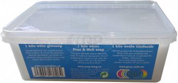 Glyzerin Gießseife Schwitzt & Kondensiert nicht. Weiß 1 kilo