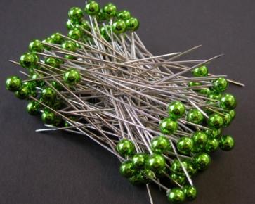 Perlen-Stifte / Perlknöpfe Ø 6 mm grun 100 Stück [1405]