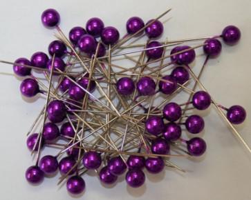 Perlen-Stifte / Perlknöpfe Ø 9 mm lila 50 Stück [1426]