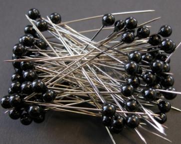 Perlen-Stifte / Perlknöpfe Ø 6 mm schwarz 100 Stück [1402]