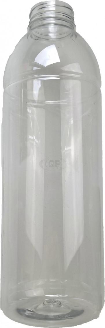 Flasche 1000ml transparent PET/ Kunststoff 38mm Öffnung
