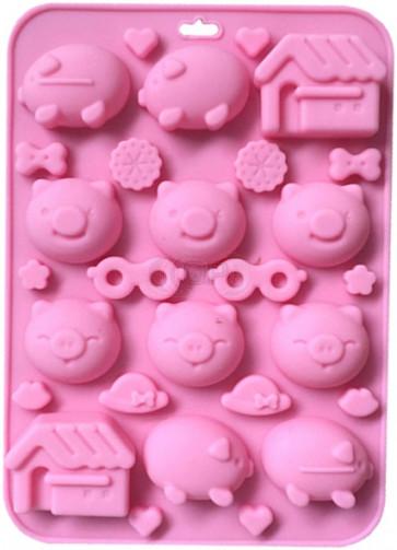QP0109S Silikonform: Schweine