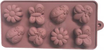 QP0136S Silikonform: Blumen / Insekten