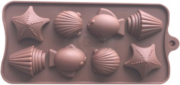 QP0151S Silikonform: Meeresfrüchte / Tiere