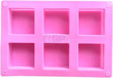 QP0155S Silikonform: 6 Seifenblöcke im Quadrat