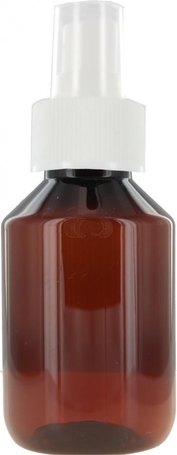 Sprayflasche 100ml braun / amber 28mm