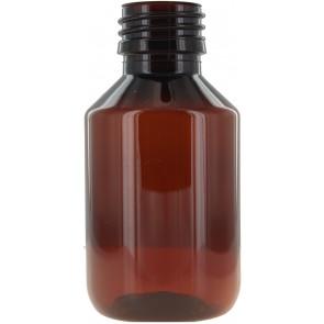 Flasche 100ml braun Pet / Kunststoff 28mm Öffnung
