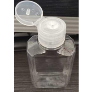 60 ml Flasche mit Klappverschluss transparent (Desinfektionsmaterial)