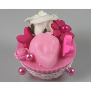 Perlen-Stifte / Perlknöpfe Ø 9 mm fuchsia roze 50 stuks [1423]