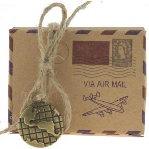 Geschenkbox Airmail 5 Stück (6*3,5*4,5 Zm)