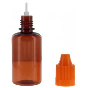 PET-Flaschen braun 30ml mit Kappe, Tropfer & kindersicher