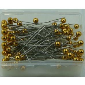 Perlen-Stifte / Perlknöpfe Ø 6 mm gold 100 Stück [1404]