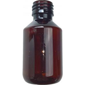 Flasche 100ml braun Pet / Kunststoff ropp 28