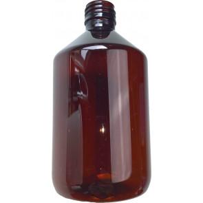 Flasche 500ml braun Pet / Kunststoff din 28