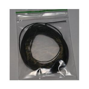 Wachsschnur zwartz Ø 1mm