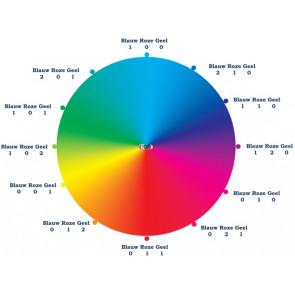 Mischfarben: schwarz, blau, rosa & zwartz 4* 30ml