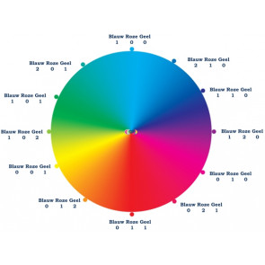 Mischfarben: schwarz, blau, rosa & gelb 4* 10ml