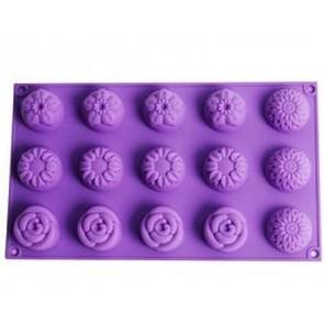 QP0057S Silikonform: Muffinform / Seifekuchen